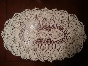 Crochet Tablecloth Oblong
