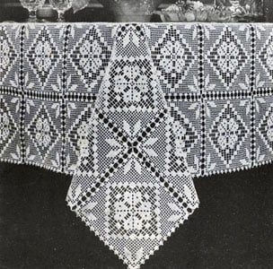 Free Crochet Oblong Tablecloth Patterns : 18 Easy Crochet Lace Tablecloth Patterns Guide Patterns
