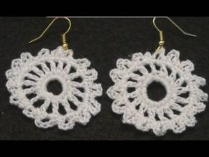 Crochet Wedding Earrings