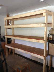 DIY Garage Shelves 2x4