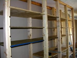 DIY Garage Shelves Plan