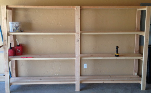 20 diy garage shelving ideas guide patterns diy garage shelving idea solutioingenieria Choice Image