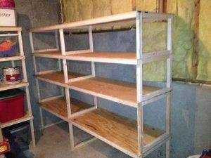 DIY Garage Storage Shelves