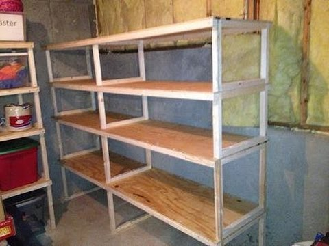 Attractive DIY Garage Storage Shelves