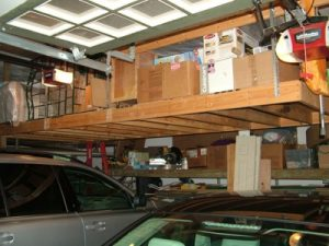 DIY Hanging Garage Shelves