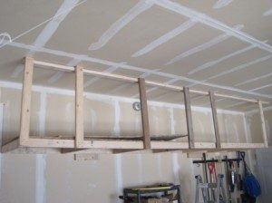 DIY Overhead Garage Shelves