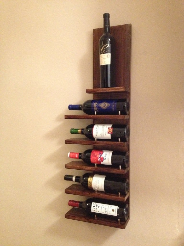 easy diy wine rack plans  guide patterns - diy wall wine rack