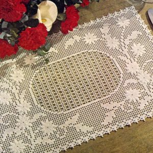 Filet Crochet Placemat Pattern