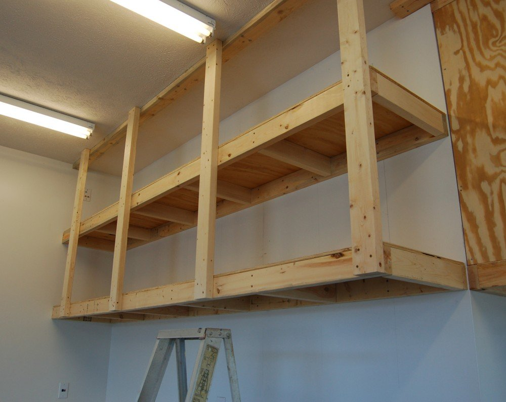 diy garage storage shelves 20 diy garage shelving ideas guide patterns 14894