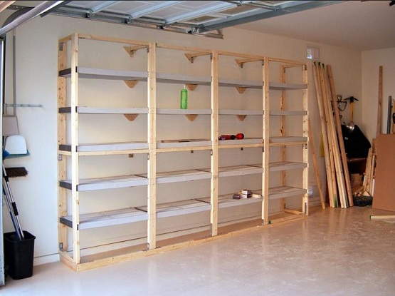 Wood Storage Cabinet With Shelves ~ Diy garage shelving ideas guide patterns