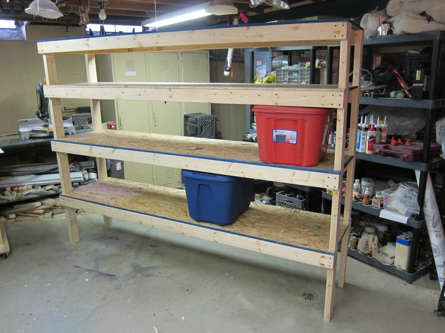 20 diy garage shelving ideas guide patterns for Garage plans with storage
