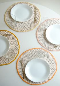 Granny Circle Crochet Placemat Pattern