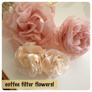 How to Make Coffee Filter Roses