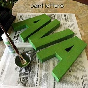 Painted Paper Mache Letters
