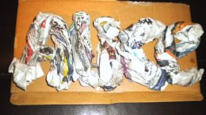 Paper Mache Craft Letters