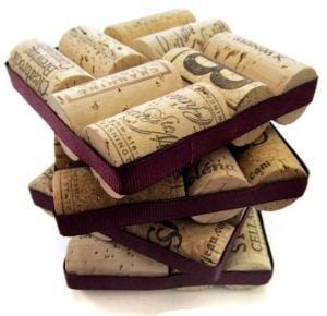 Wine Cork Coasters DIY