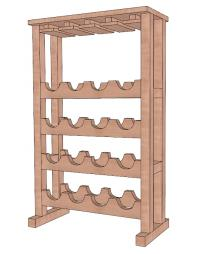 Wine Rack Plan DIY