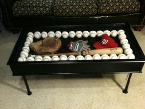 Baseball Shadow Case Coffee Table
