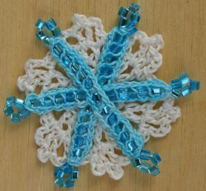 Beaded Crochet Snowflake