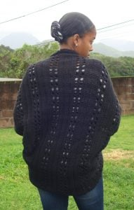 Black Crochet Shrug