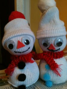 Christmas Sock Snowmen
