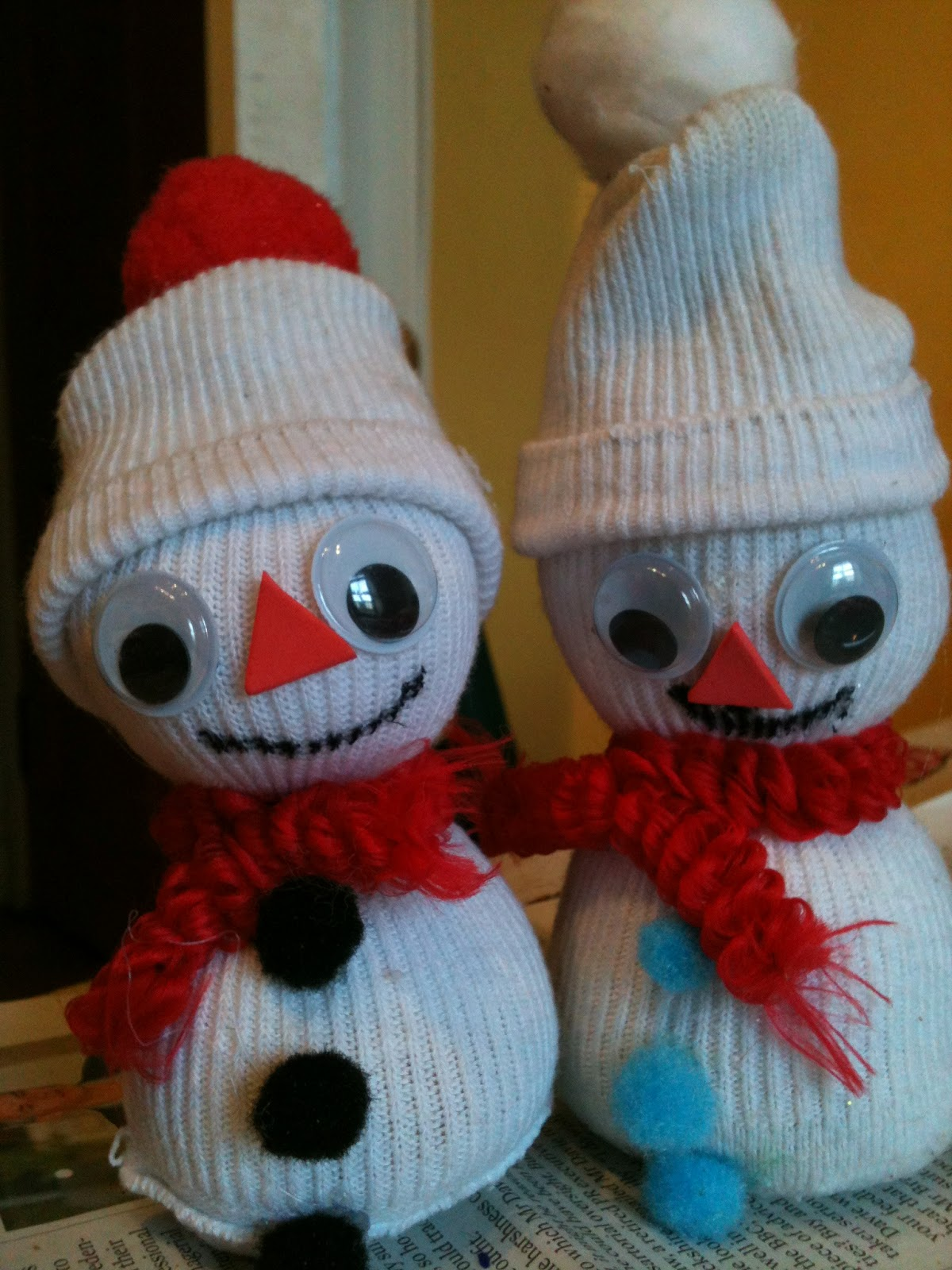 19 sock snowman diy crafts guide patterns for How to make a snowman
