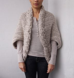 Crochet Chunky Shrug Cardigan Pattern