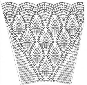 Crochet Skirt Diagram