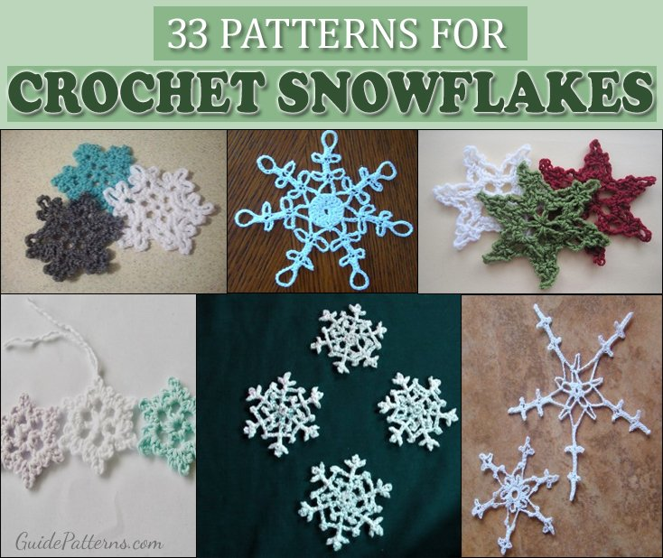 33 Crochet Snowflake Patterns Guide Patterns