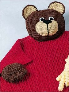 Crochet Teddy Bear Baby Blanket Pattern