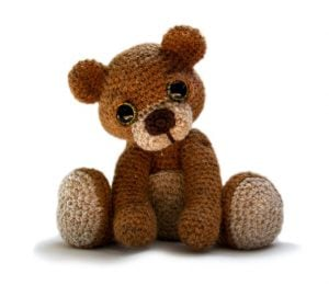 Crochet Teddy Bear Baby Toy