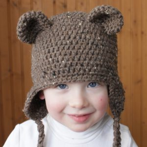 Crochet Teddy Bear Hat Pattern