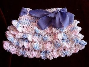 Crochet Tiered Baby Skirt