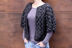 Crocheted Granny Shrug