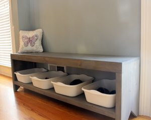 DIY Entryway Bench with Storage