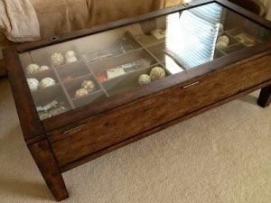 DIY Glass Shadow Case Coffee Table