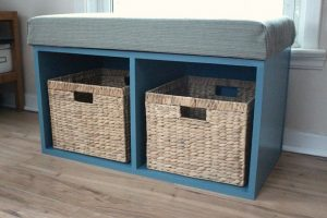DIY Storage Bench with Baskets