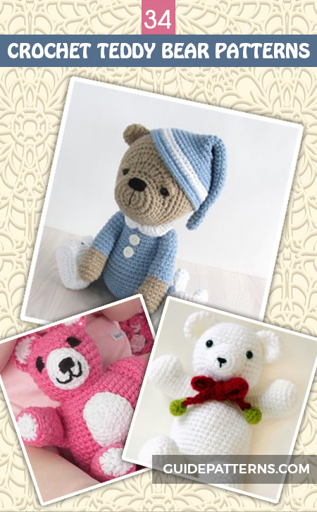 Free Crochet Teddy Bear Pattern - Lucy Kate Crochet | 726x450