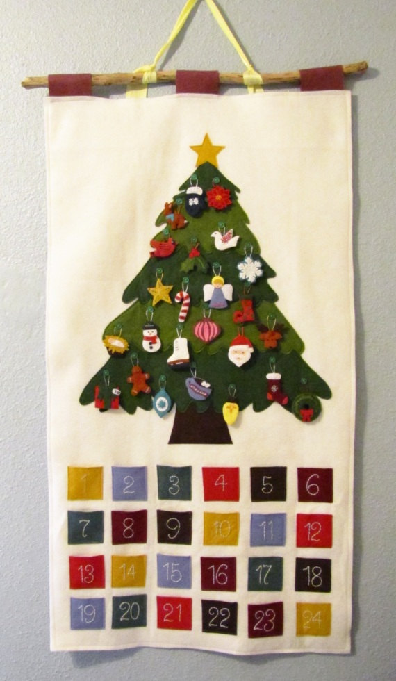 Handmade Calendar Tutorial : Creative felt christmas tree ideas guide patterns