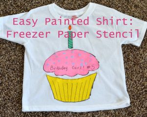 Freezer Paper Stencil Tutorial