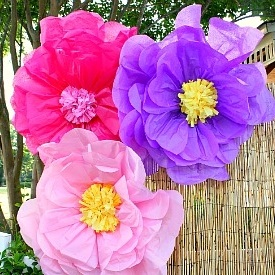 10 ways to make giant tissue paper flowers guide patterns giant tissue paper flowers mightylinksfo