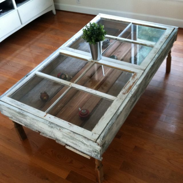 Attractive Glass Shadow Box Coffee Table