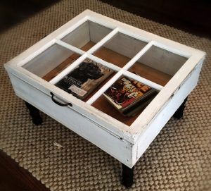 Glass Top Display Shadow Case Coffee Table