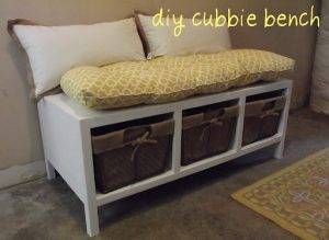 How to Build a Storage Bench with Cubbies