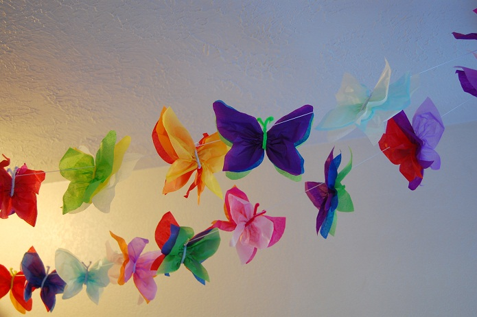 37 diy paper garland ideas guide patterns for Making butterfly decorations