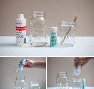 How to Paint Glass Mason Jars