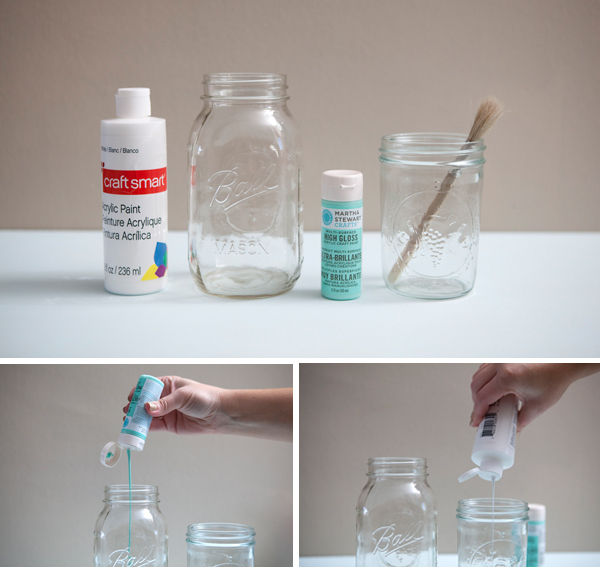 31 painted mason jars guide patterns for How to paint glass jars