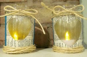 Mason Jar Candle Holders DIY