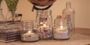 Mason Jar Candle Holders with Sand