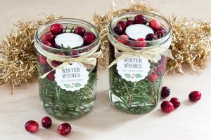 Mason Jar Candles Christmas